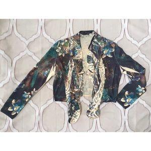 🧡 3 for $25 Crochet Sublimation Print Cardigan